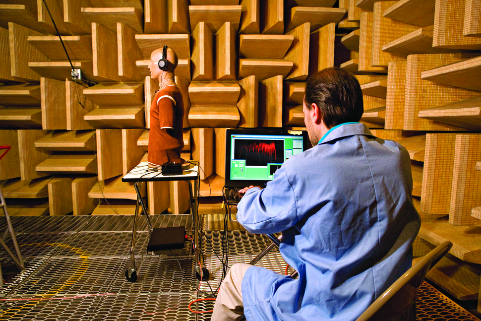Consumer Reports - product testing - headphones in anechoic chamber