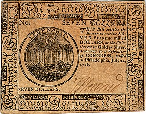 Continental Currency $7 banknote obverse (June 22, 1776).jpg