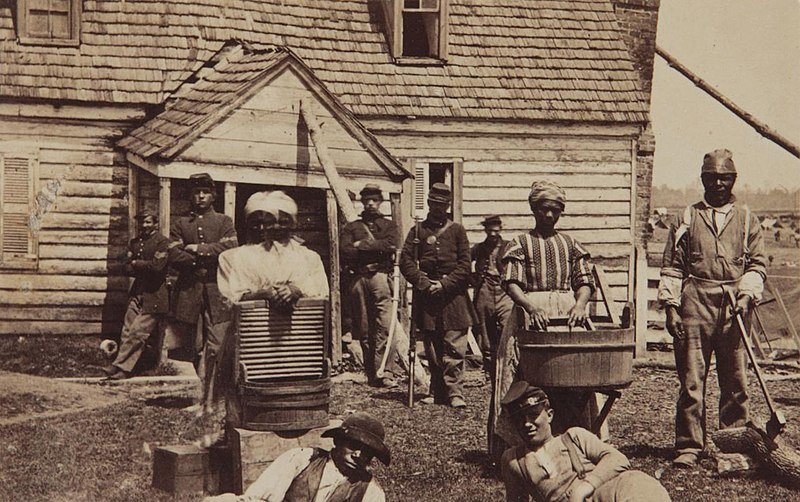 File:Contrabands at Headquarters of General Lafayette by Mathew Brady.jpg