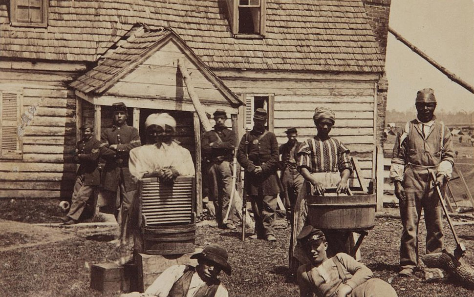 Contrabands at Headquarters of General Lafayette by Mathew Brady