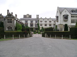 Coombe Abbey - Coombe Abbey, view of the buildings from the main drive.