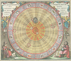 Andreas Cellarius - Andreas Cellarius, illustration of the Copernican system, from the Harmonia Macrocosmica (1660).