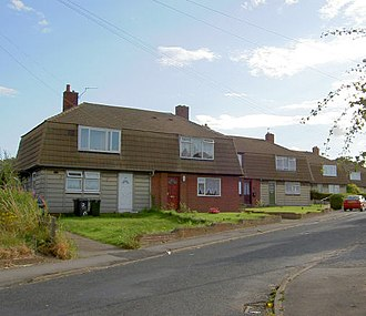 Prefabs in the United Kingdom - Cornish houses in Barnsley, South Yorkshire.