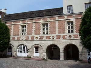 Isabelle de Limeuil - The courtyard of the Hôtel Scipion in Paris, the principal residence of Isabelle and her family