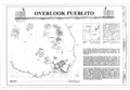 Cover Sheet and Site Plan - Overlook Pueblito, Superior Mesa, Dulce, Rio Arriba County, NM HABS NM-184 (sheet 1 of 3).png