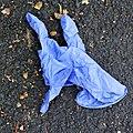 Covid-19 PPE glove dumped Tottenham style, London, England.jpg