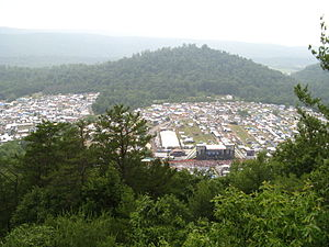 Creation Festival - Aerial view of the Creation Northeast festival.