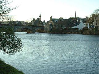 Newton Stewart town in Dumfries and Galloway, Scotland