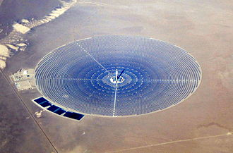 Concentrated solar power - 2014 December - Crescent Dunes completed site.