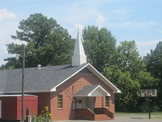 Natchitoches Parish, Louisiana - Creston Baptist Church is located at the intersections of the highways leading to Ashland, Goldonna, and Readhimer.