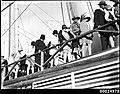 Crowds inspect HMAS AUSTRALIA II at Circular Quay, Sydney (8491449824).jpg