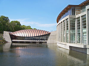 Crystal Bridges Museum of American Art - One of the museum's namesake bridge pavilions