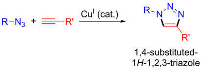 Copper catalysed azide-alkyne cycloaddition.