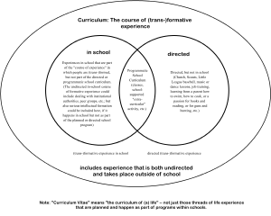 schematic view of Curriculum in/out of school,...