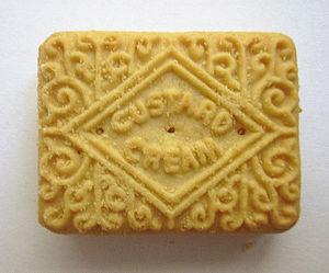 Custard cream - Image: Custard cream biscuit
