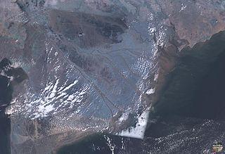 Satellitenfoto vom Mekongdelta