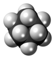 3D structure of a cyclohexane molecule