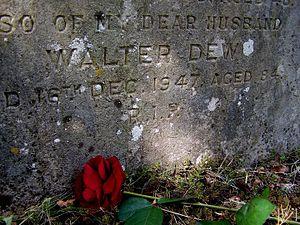 Walter Dew - Dew's Gravestone at Durrington Cemetery, Photograph taken in 2011