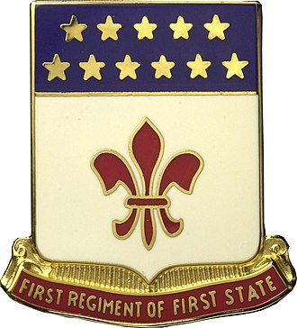 Army National Guard units with campaign credit for the War of 1812 - Distinctive Unit Insignia: 198 Sig Bn