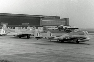 De Havilland Vampire - Vampire NF.10 of 25 Squadron RAF in 1954
