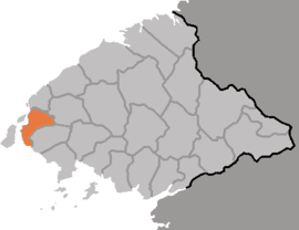 Location of Ryongch'ŏn County