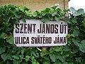 Dabas kétnyelvű utcanévtábla.JPG