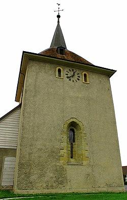 Daillens, clocher du temple, côté route.jpg