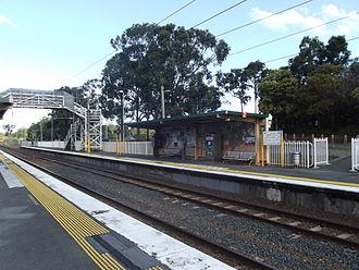 Dakabin railway station - Southbound view from Platform 1 in June 2012