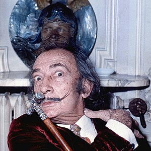 Allan Warren - Salvador Dali's portrait taken by Allan Warren