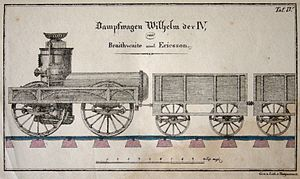 John Braithwaite (engineer) - Drawing of a steam locomotive named after William IV