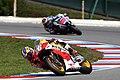 Dani Pedrosa and Jorge Lorenzo 2014 Brno 3.jpeg