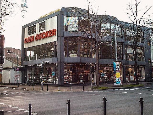 Firmenhauptsitz von Data Becker in Düsseldorf (Ladengeschäft ist wohl bereits geschlossene)