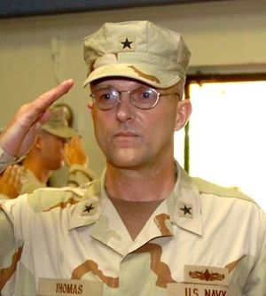 David M. Thomas Jr. - David M. Thomas salutes as he takes command of JTF-GTMO.