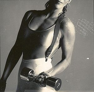DeBarra Mayo in workout gear 1987. Photo prese...