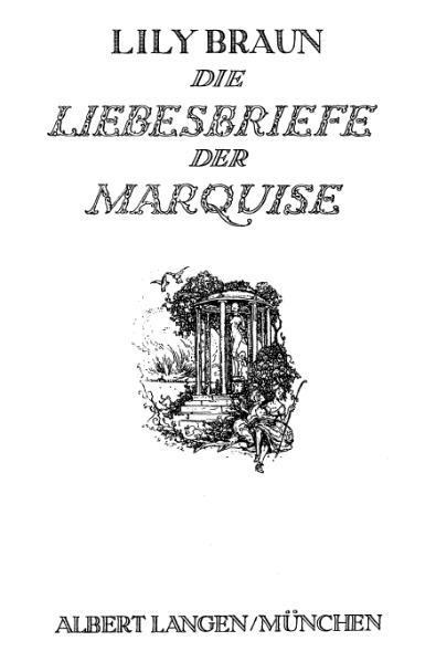 File:De Die Liebesbriefe der Marquise (Braun).djvu