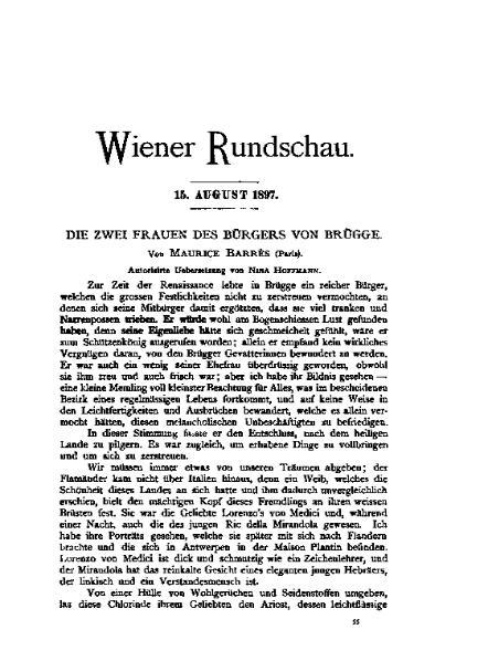File:De Die zwei Frauen des Bürgers von Brügge (Barres).djvu