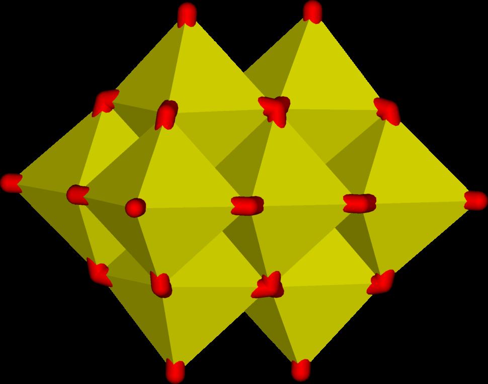 Decavanadate polyhedra