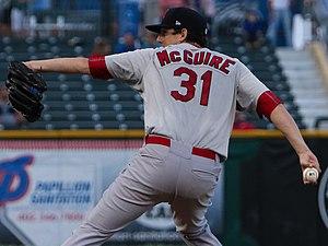 Deck McGuire - McGuire with the Memphis Redbirds in 2016