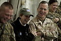 Defense.gov News Photo 101215-N-0696M-322 - Chairman of the Joint Chiefs of Staff Adm. Mike Mullen U.S. Navy and his wife Deborah enjoy the USO Holiday Tour at Bagram Air Field.jpg