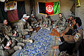 Defense.gov News Photo 110816-F-SZ282-298 - U.S. Navy Lt. Patrick King center and members of a U.S. Army team specializing in civil affairs and psychological operations meet with Afghan.jpg