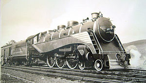 Delaware, Lackawanna and Western Railroad - A Delaware Lackawanna and Western streamlined steam locomotive in the 1930s