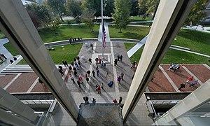 Denison Academic Quad view from Slayter Union