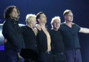 Depeche Mode koncerte en Barcelona en 2006.