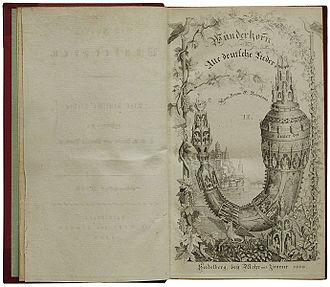 Des Knaben Wunderhorn - Title-page, Volume 2, published in 1808