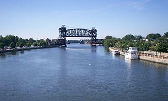 Des Plaines River - Des Plaines River in Joliet, IL