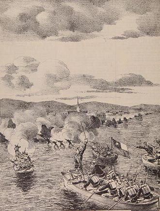 Battle of Pisagua - Image: Desembarco en Pisagua