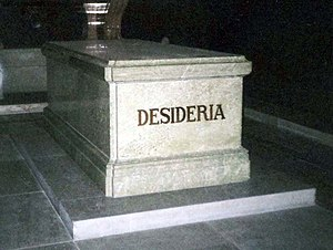 Given name - Desideria (here on her sarcophagus at Riddarholm Church) was a name given to Désirée Clary not at birth, but when she was created Crown Princess of Sweden in 1810