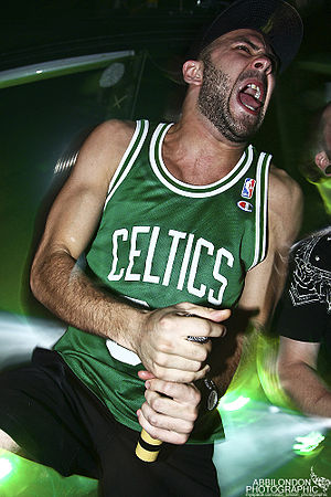 Despised Icon - One of the two vocalists, Alexandre Erian at 2009's Ghostfest.