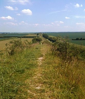 Anna of East Anglia - The Devil's Dyke, near Exning. Anna may have been at Exning in 631.