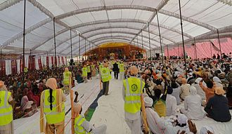 Ravidassia religion - Devotees at 635th Anniversary of Guru Ravidass at Sri Guru Ravidass Janamsthan Mandir, Varanasi